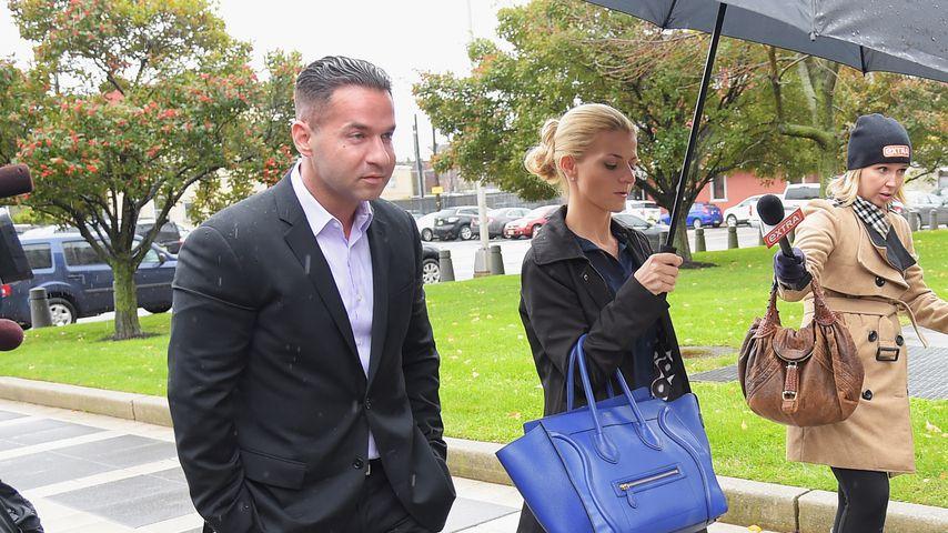Mike Sorrentino und Lauren Pesce auf dem Weg ins Gericht