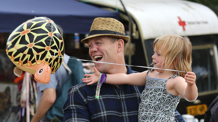Mike Tindall mit seiner Tochter Mia