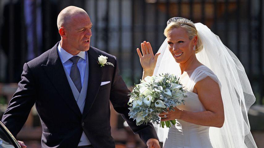 Mike und Zara Tindall bei ihrer Hochzeit, 2011