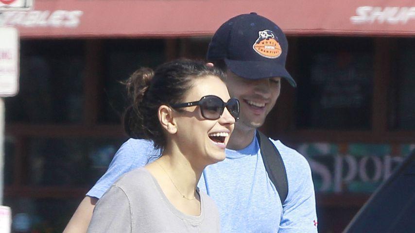 Super-Mama: So vernarrt ist Mila Kunis in Töchterchen Wyatt