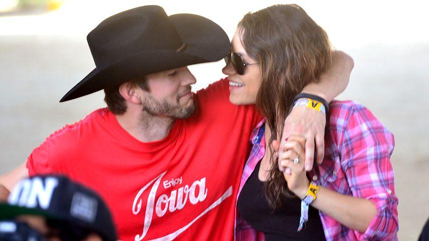 Promi-Paar Ashton Kutcher und Mila Kunis