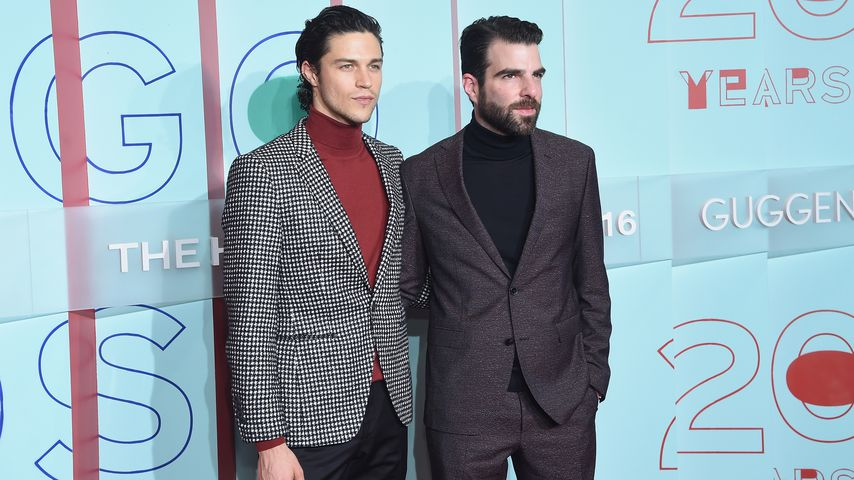 "Miles McMillan und Zachary Quinto beim ""20th Anniversary of the HUGO BOSS Prize"""