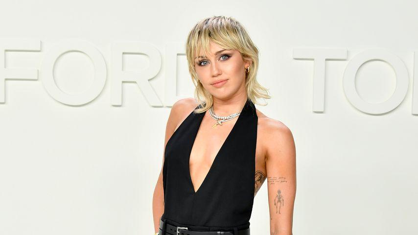 Miley Cyrus bei der Fashionshow von Tom Ford, Februrar 2020