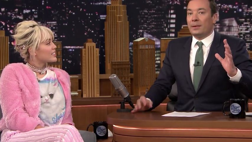 Miley Cyrus und Jimmy Fallon