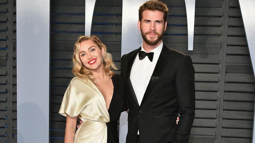 Miley Cyrus und Liam Hemsworth auf der Vanity Fair Oscar Party 2018