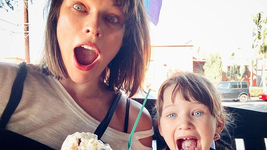 Schwangere Milla Jovovich kommt an Eis – dank ihrer Tochter