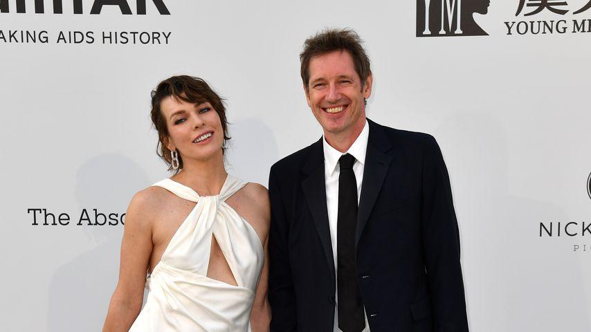 Milla Jovovich und ihr Mann Paul W. S. Anderson 2019 in Cannes