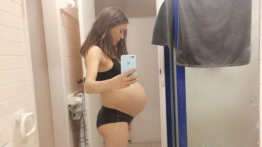MIlly Johnson in ihrer 38. Schwangerschaftswoche