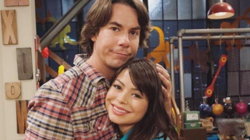 """Die """"iCarly""""-Darsteller Jerry Trainor und Miranda Cosgrove"""