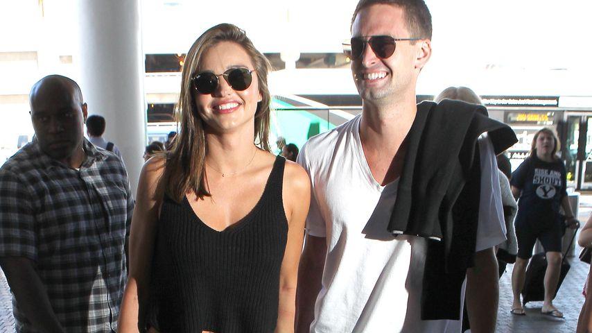 Model Miranda Kerr und Snapchat-Gründer Evan Spiegel