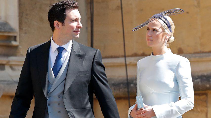 Misha Nonoo mit Michael Hess auf Harrys und Meghans Hochzeit im Mai 2018