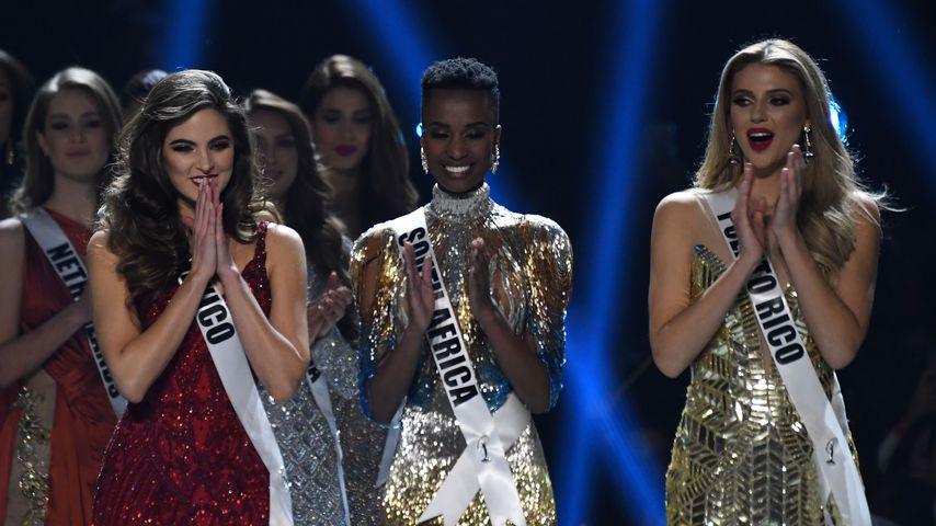 Miss Mexiko, Miss Südafrika und Miss Puerto Rico bei der Miss-Universe-Wahl 2019
