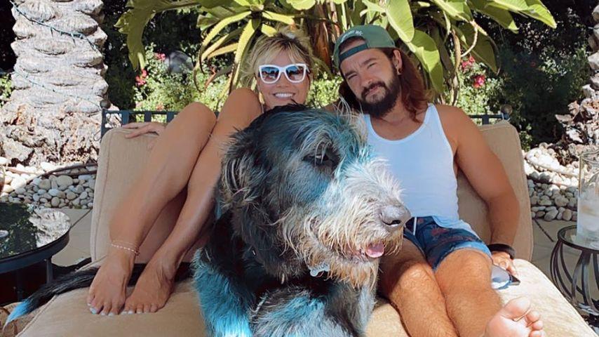 Model Heidi Klum mit Tom Kaulitz im Sommer 2020