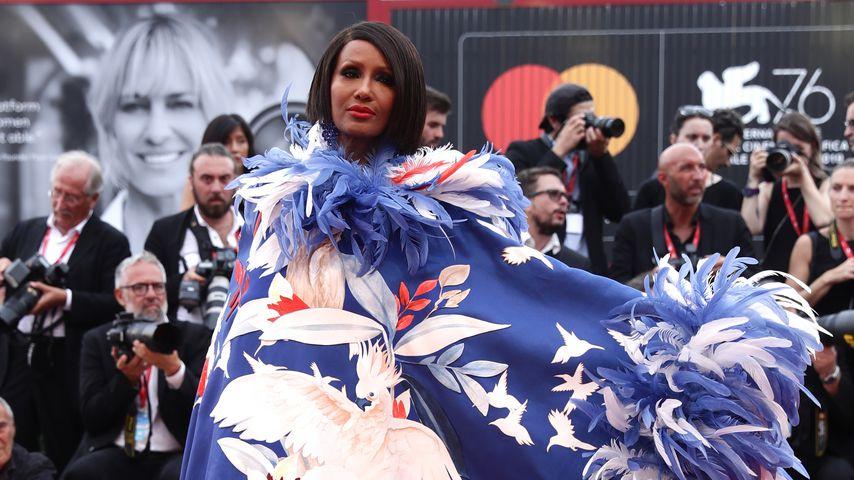 Model Iman bei den Filmfestspielen von Venedig im August 2019