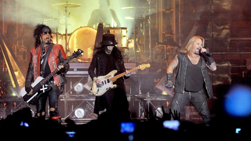 Mötley Crüe bei einem Auftritt in Mailand
