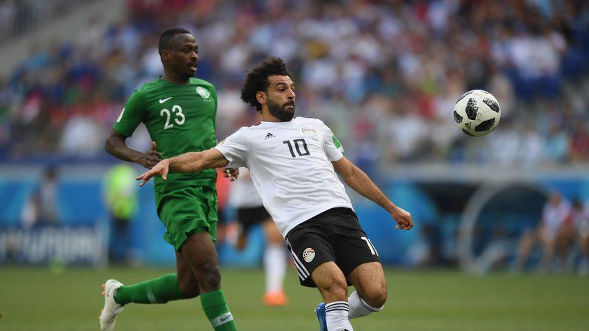 Mohamed Salah in einem WM-Spiel