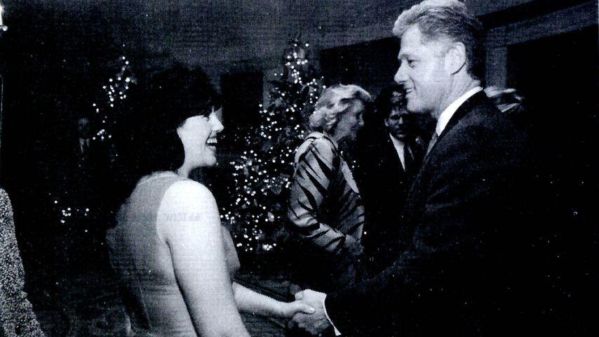 Monica Lewinsky und Bill Clinton im September 1998 im Weißen Haus