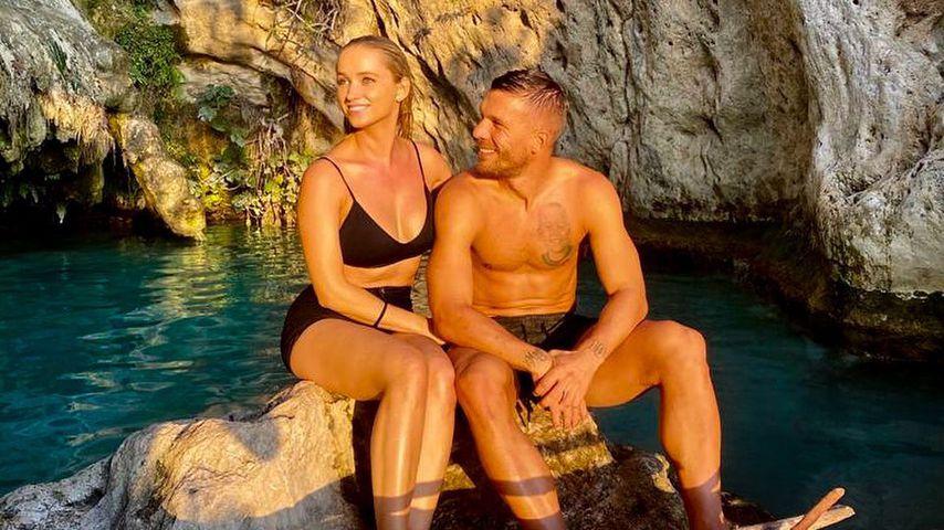 Monika und Lukas Podolski in Antalya, 2020