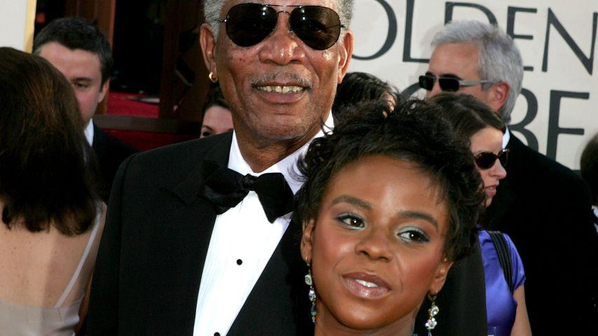Morgan Freeman und E'Dena Hines bei den Golden Globes 2005