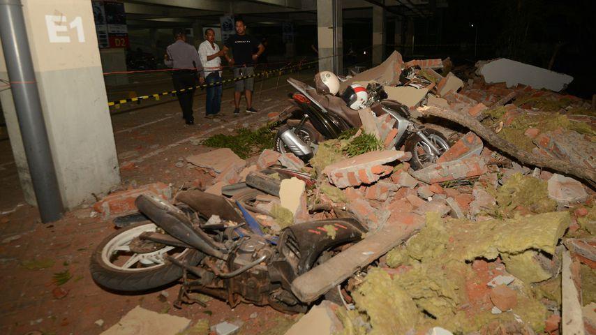 Schäden nach Erdbeben in Indonesien