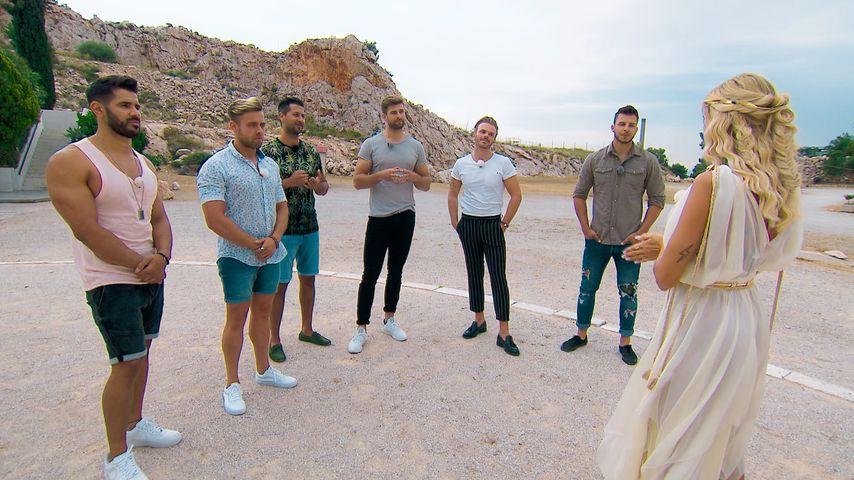 """Mudi, Andreas, Matin, Marco, Luca, Tim und Gerda in Folge 3 von """"Die Bachelorette"""""""