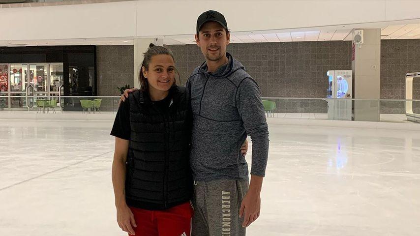 """Nadine Angerer und David Vincour beim """"Dancing on Ice""""-Training"""