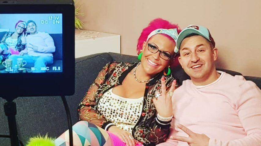 Nadine und Patrick Zucker bei TV-Dreharbeiten