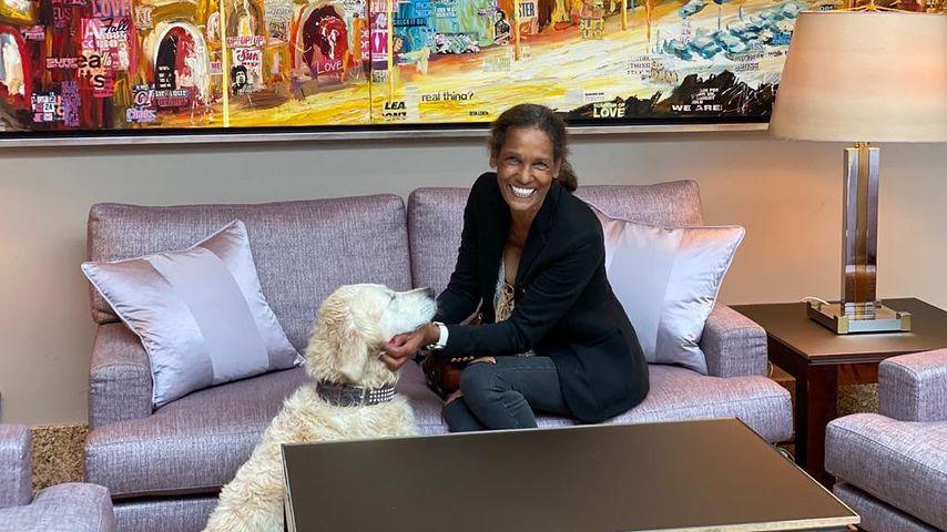 Nadja Abd el Farrag mit ihrem Hund Lilly