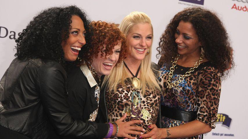 Nadja Benaissa, Lucy Diakovska, Sandy Mölling und Jessica Wahls von den No Angels im Jahr 2009