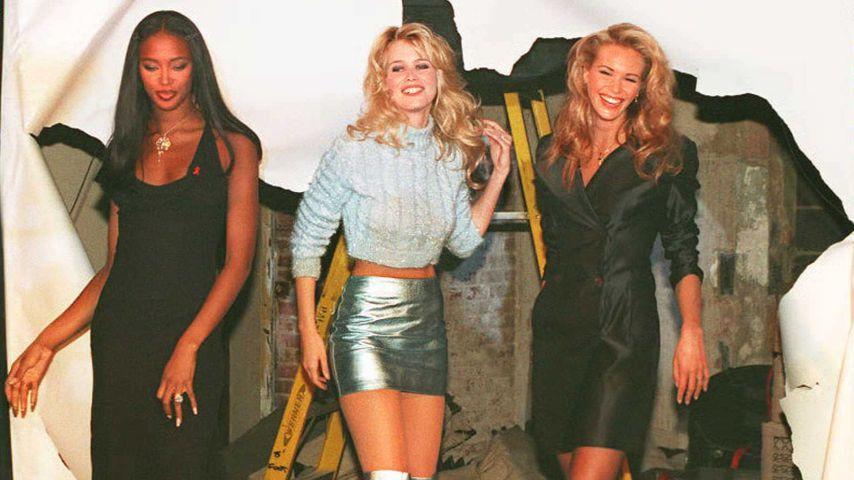 Naomi Campbell, Claudia Schiffer und Elle MacPherson, 1995
