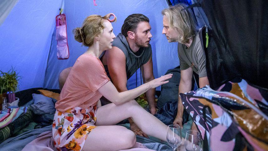 """Natalie Alison, Bela Klentze und Erich Altenkopf in einer Szene von """"Sturm der Liebe"""""""