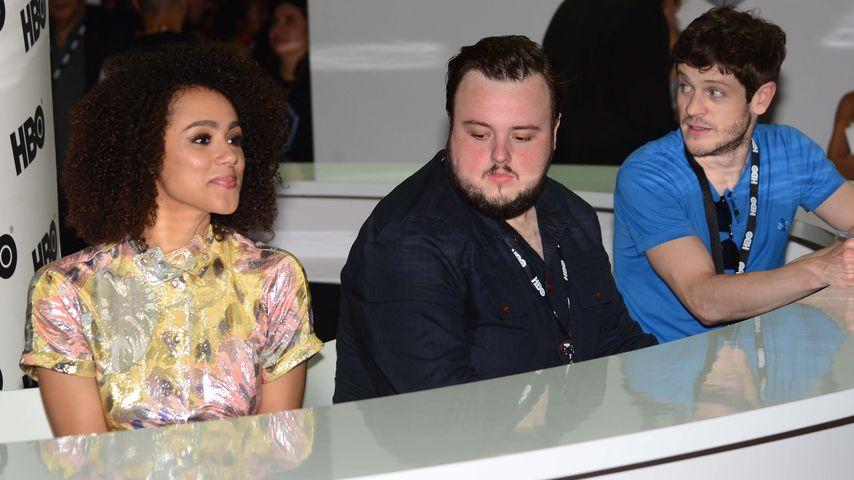 """Nathalie Emmanuel, John Bradley und Iwan Rheon, Stars von """"Game of Thrones"""""""