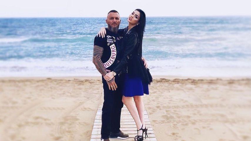 Nathalie Volk mit ihrem Partner