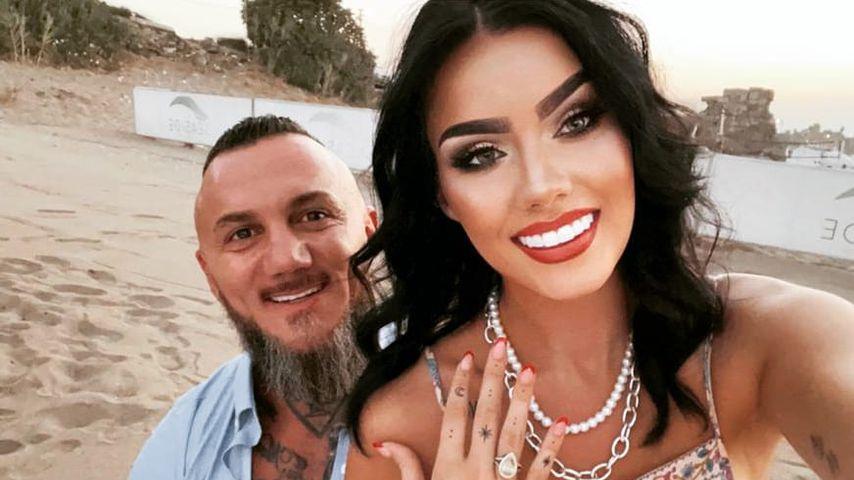 Nathalie Volk und ihr Freund Timur im September 2021