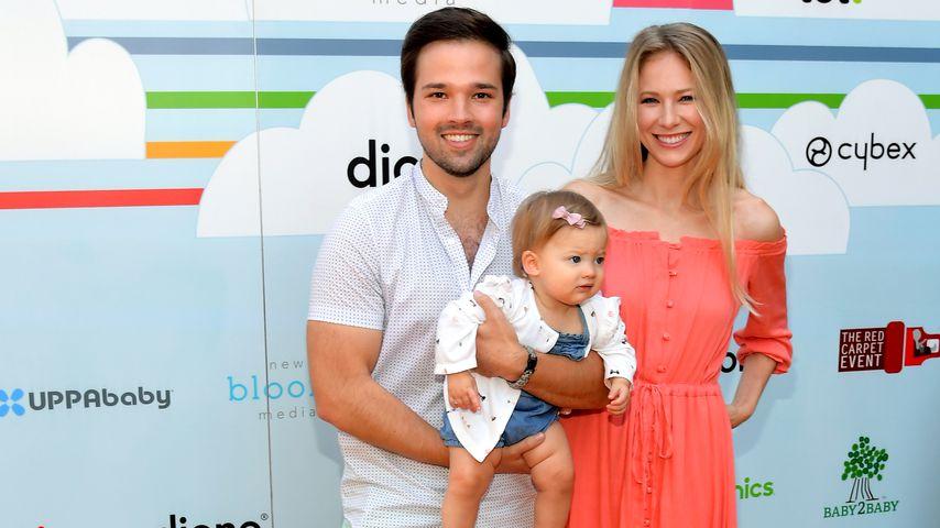 Nathan Kress und seine Frau London sowie Tochter Rosie, September 2018