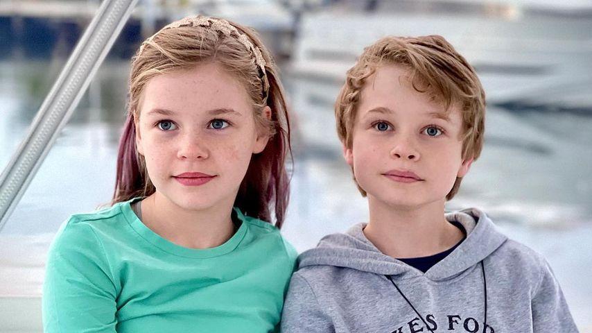 Neil Patrick Harris' Kinder Harper und Gideon im Oktober 2021