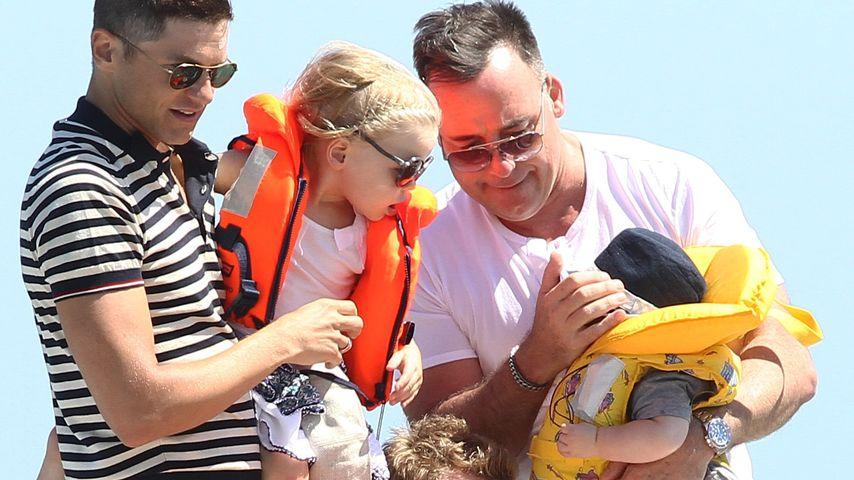 Süß! Neil Patrick Harris mit Rasselbande im Urlaub