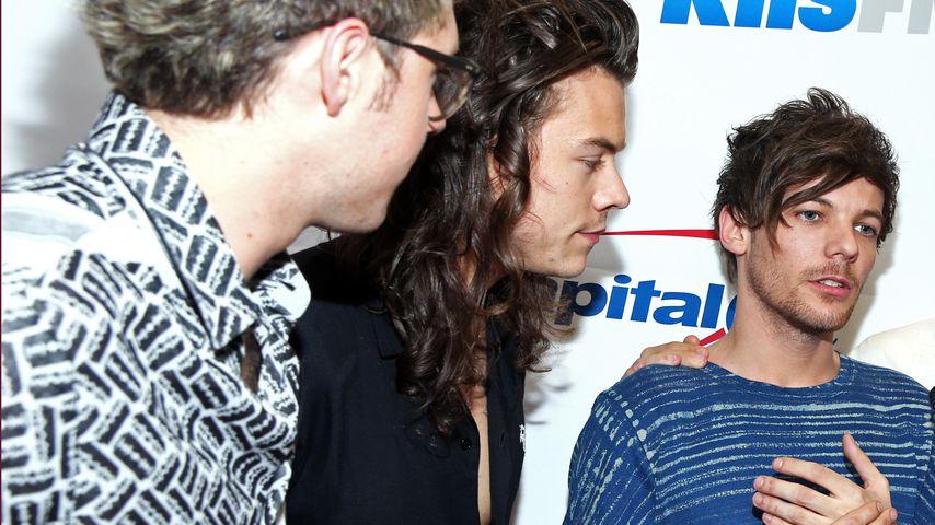 Niall Horan, Harry Styles und Louis Tomlinson im Dezember 2015