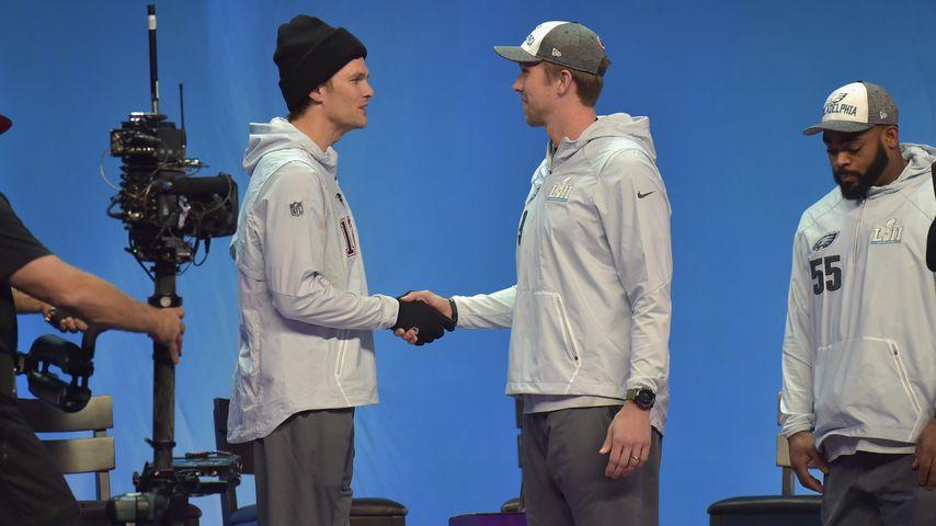 Nick Foles und Tom Brady vor dem Super Bowl 2018