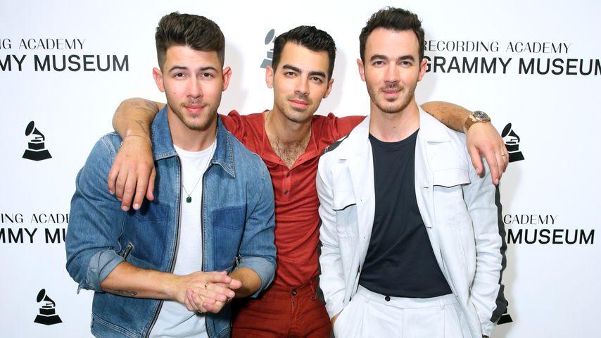 Nick Jonas, Joe Jonas und Kevin Jonas im Grammy Museum im Oktober 2019