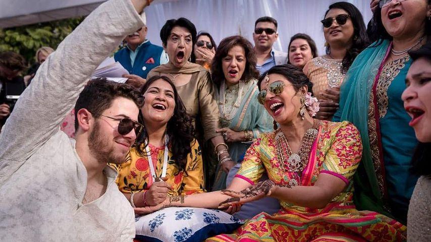 Nick Jonas, Priyanka Chopra und ihre Familie kurz vor ihrer Hochzeit