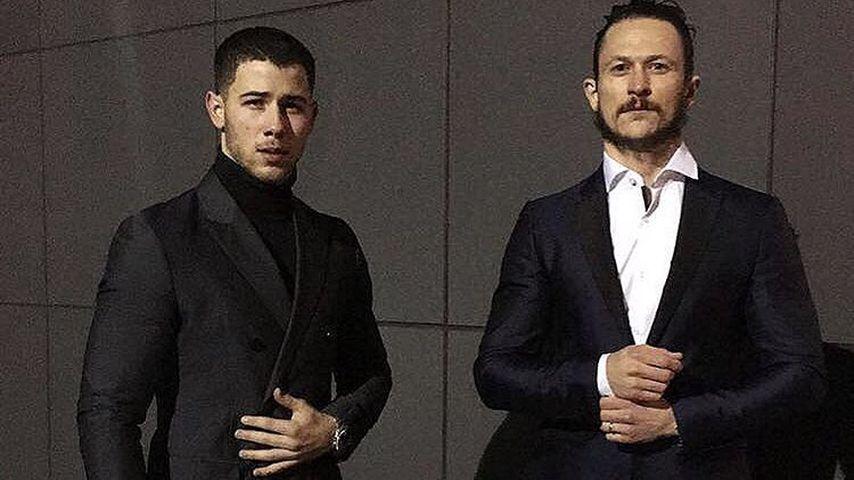 Nick Jonas und Jonathan Tucker auf dem Weg zur Abschiedsfeier von Präsident Barack Obama