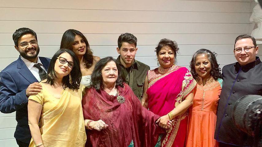 Nick Jonas und seine Frau Priyanka bei ihrer Hochzeitsparty in North Carolina