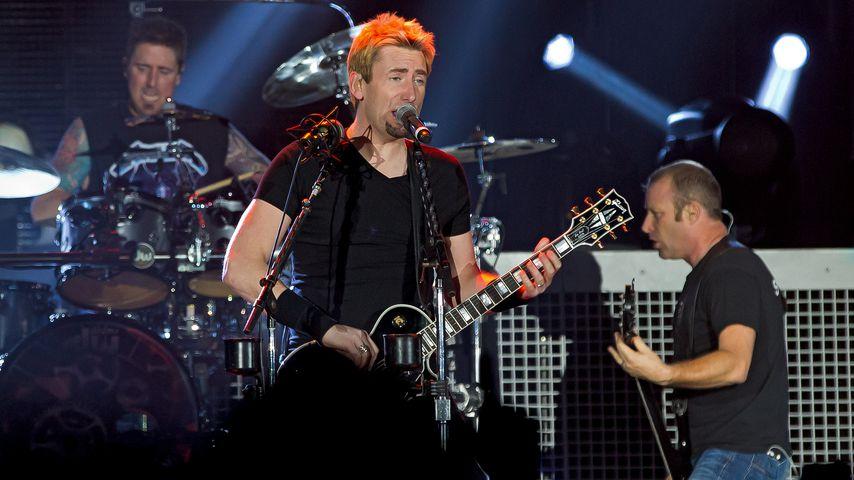 Nickelback bei einem Auftritt in Schweden 2013