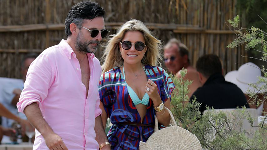 Niclas Castello und Sylvie Meis 2019 in Saint-Tropez