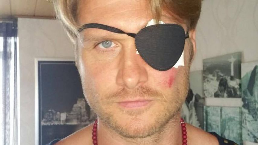 Nico Schwanz mit Augenklappe