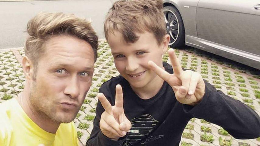 Nico Schwanz und sein Sohn Damian