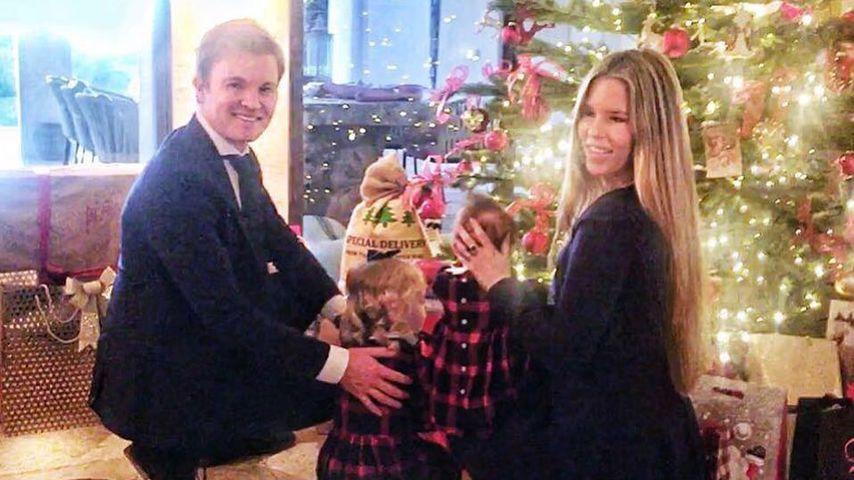 Nico und Vivian Rosberg mit den Töchtern