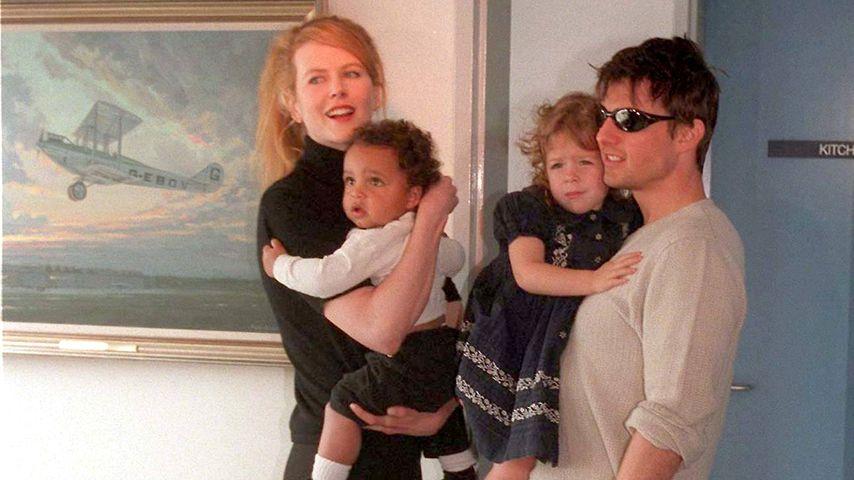 Nicole Kidman, Connor, Isabella und Tom Cruise, 1996