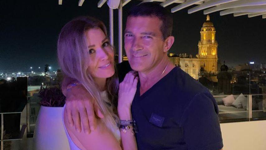 Nicole Kimpel und Antonio Banderas im Jahr 2020